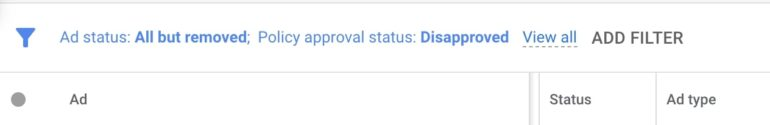 google-ads-disapproval